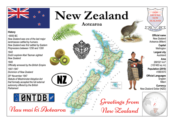 Oceania | New Zealand MOTW - top quality approved by www.postcardsmarket.com specialists
