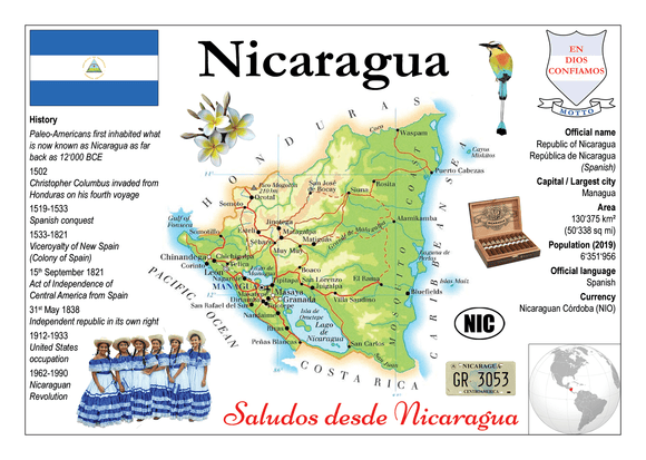 North America | Nicaragua MOTW - top quality approved by www.postcardsmarket.com specialists