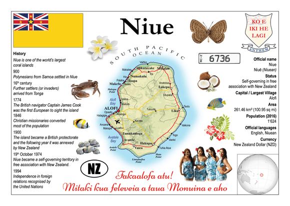 Oceania | Niue MOTW - top quality approved by www.postcardsmarket.com specialists