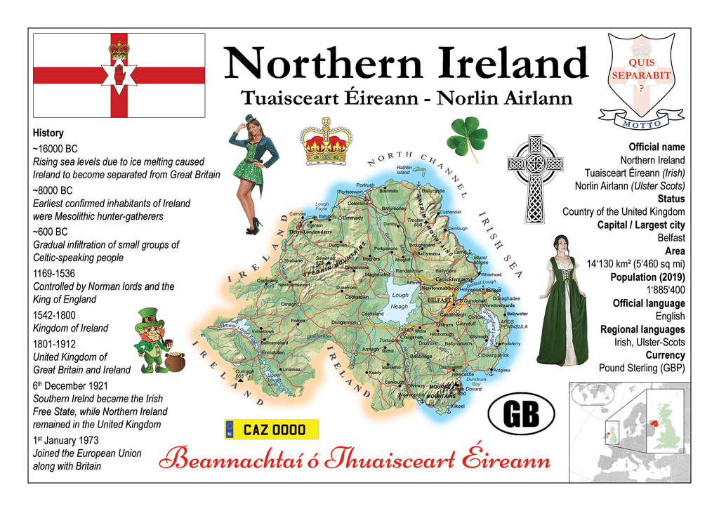Europe | Northern Ireland MOTW - top quality approved by www.postcardsmarket.com specialists