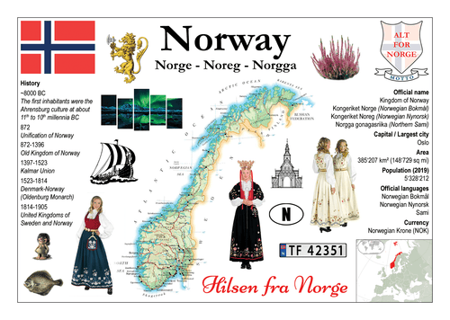 Europe | Norway MOTW - top quality approved by www.postcardsmarket.com specialists