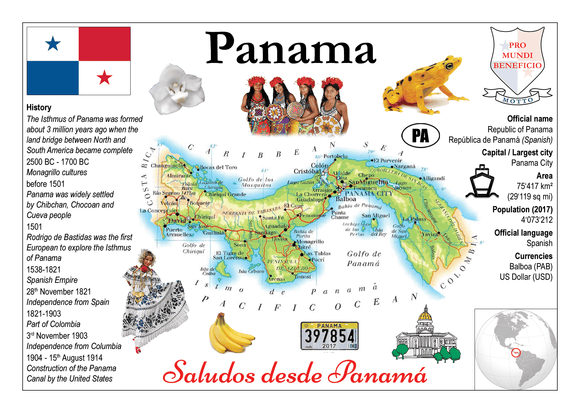 North America | Panama MOTW - top quality approved by www.postcardsmarket.com specialists