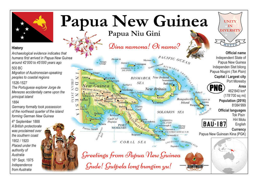 Oceania | Papua New Guinea MOTW - top quality approved by www.postcardsmarket.com specialists
