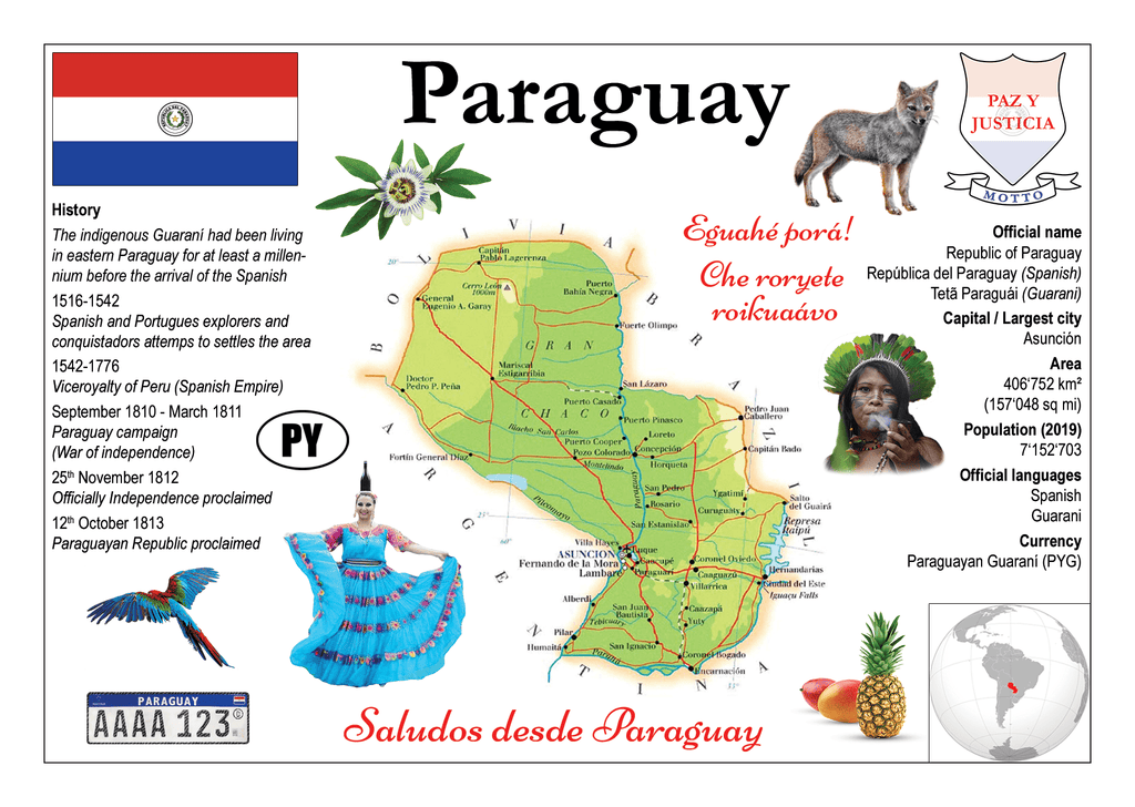 South America | Paraguay MOTW - top quality approved by www.postcardsmarket.com specialists