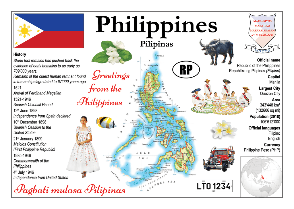 Asia | Philippines MOTW - top quality approved by www.postcardsmarket.com specialists