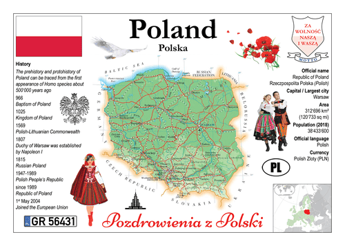 Europe | Poland MOTW - top quality approved by www.postcardsmarket.com specialists