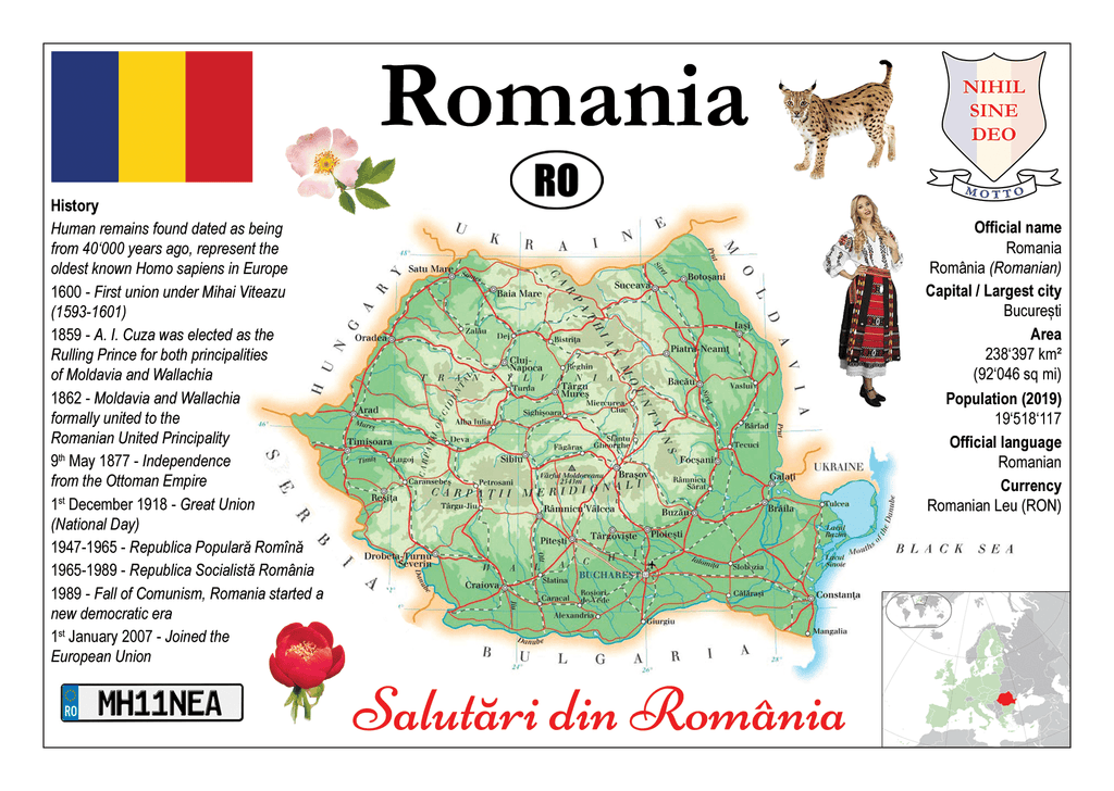Europe | Romania MOTW - top quality approved by www.postcardsmarket.com specialists