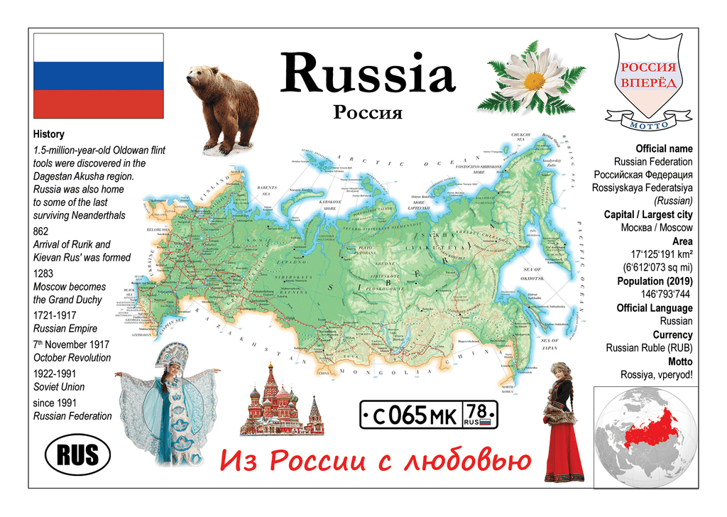 Europe | Asia | Russia MOTW - top quality approved by www.postcardsmarket.com specialists