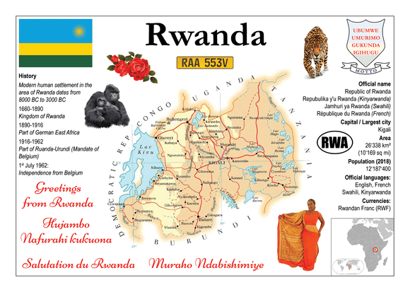AFRICA | Rwanda MOTW - top quality approved by www.postcardsmarket.com specialists