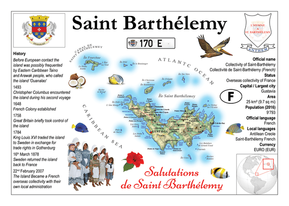 North America | Saint Barthelemy MOTW - top quality approved by www.postcardsmarket.com specialists
