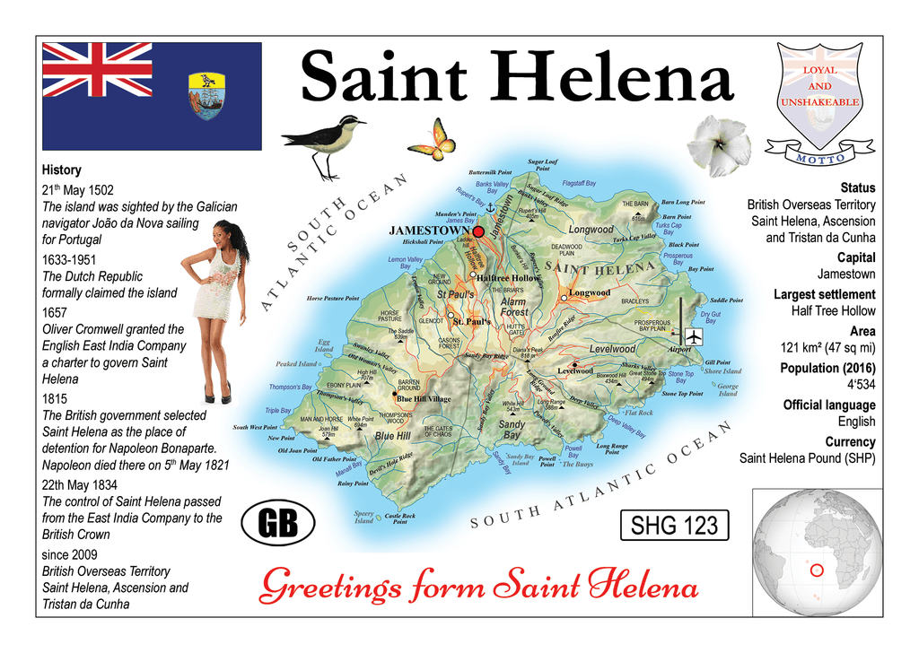 AFRICA | Saint Helena MOTW - top quality approved by www.postcardsmarket.com specialists