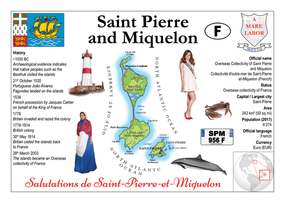 North America | Saint Pierre & Miquelon MOTW - top quality approved by www.postcardsmarket.com specialists