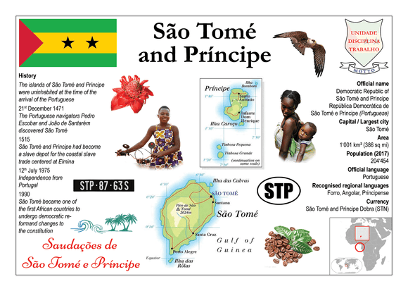 AFRICA | Sao Tome and Principe MOTW - top quality approved by www.postcardsmarket.com specialists