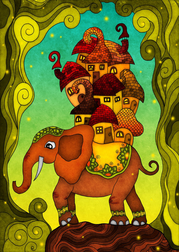 Colours: Elephant - Postcards Market