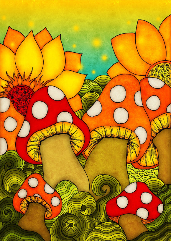Colours: Mushroom Family - Postcards Market