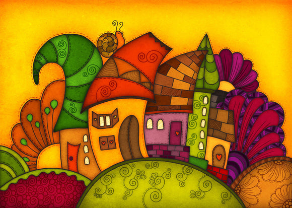 Colours: Happy Houses - One - Postcards Market