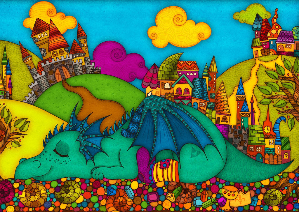 Colours: Where do dragons sleep - Postcards Market