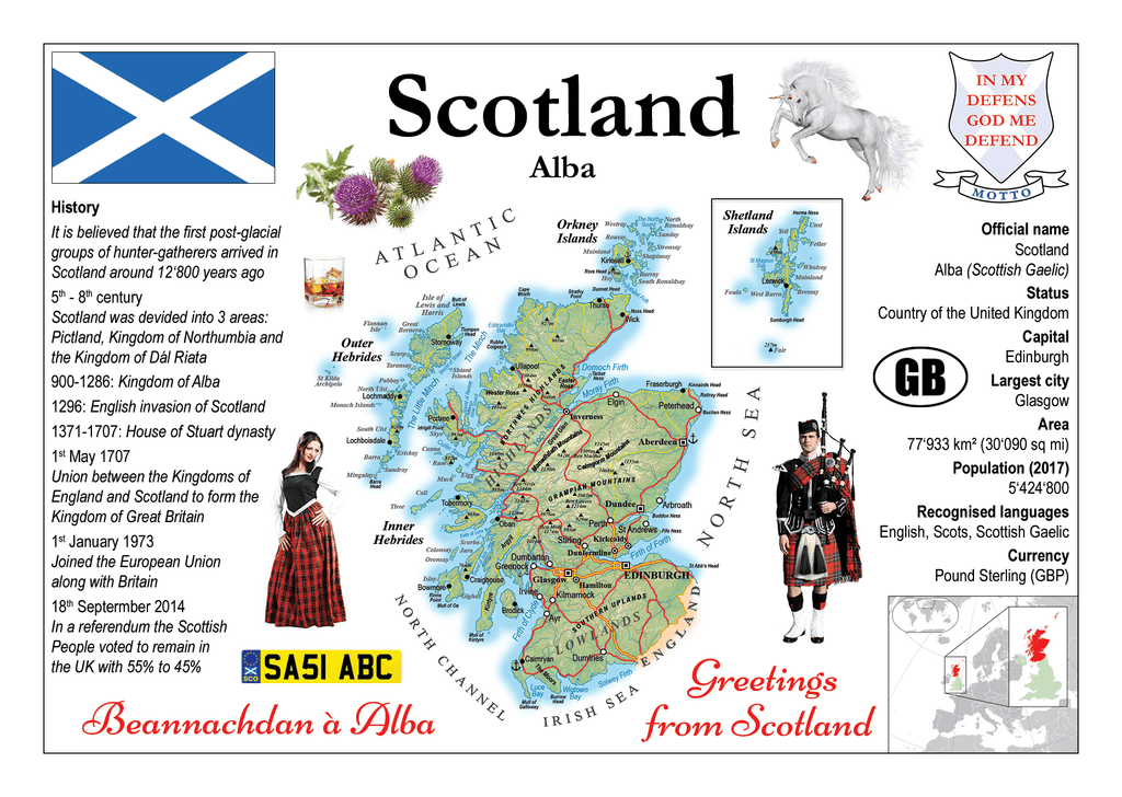 Europe | Scotland MOTW - top quality approved by www.postcardsmarket.com specialists