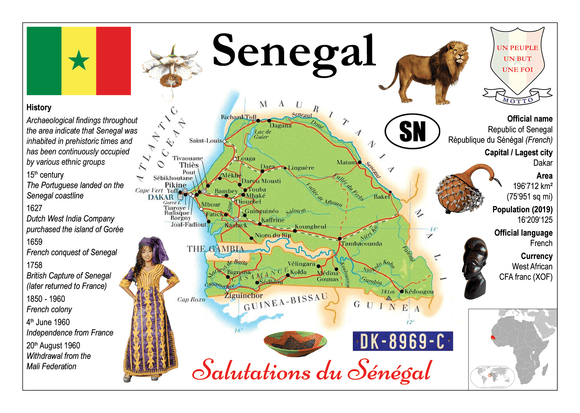 AFRICA | Senegal MOTW - top quality approved by www.postcardsmarket.com specialists