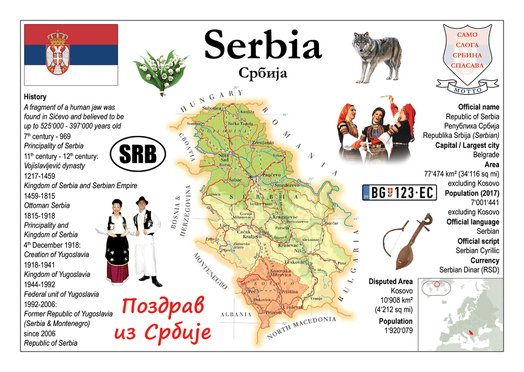 Europe | Serbia MOTW - top quality approved by www.postcardsmarket.com specialists