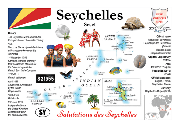 AFRICA | Seychelles MOTW - top quality approved by www.postcardsmarket.com specialists