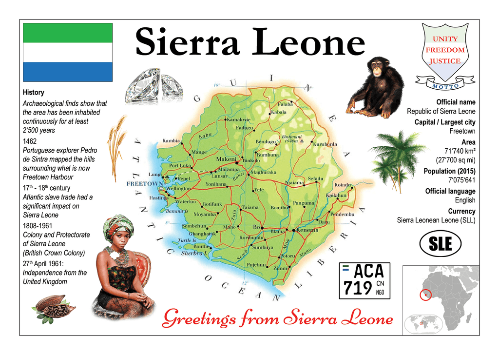 Sierra Leone MOTW - top quality approved by www.postcardsmarket.com specialists
