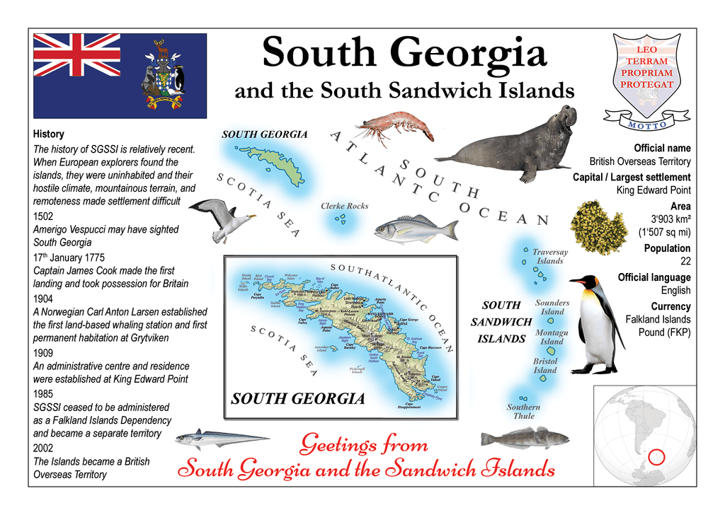South Georgia and the South Sandwich Islands MOTW - top quality approved by www.postcardsmarket.com specialists