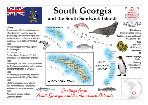South America | South Georgia and the South Sandwich Islands MOTW - top quality approved by www.postcardsmarket.com specialists