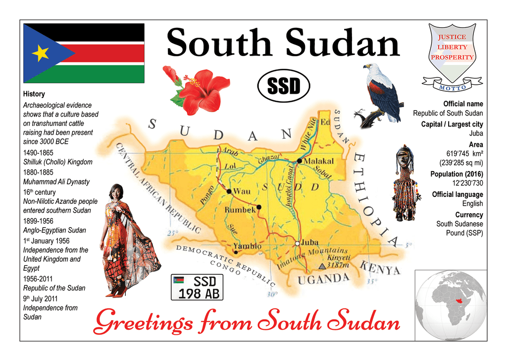 AFRICA | South Sudan - MOTW - top quality approved by www.postcardsmarket.com specialists