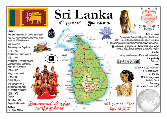 Asia | Sri Lanka - MOTW - top quality approved by www.postcardsmarket.com specialists