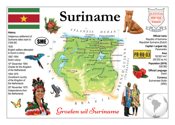 South America | Suriname - MOTW - top quality approved by www.postcardsmarket.com specialists