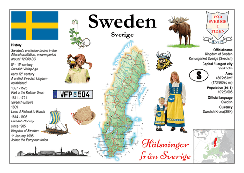 Europe | Sweden MOTW - top quality approved by www.postcardsmarket.com specialists