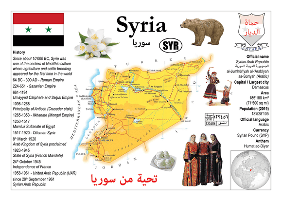 Asia | Syria - MOTW - top quality approved by www.postcardsmarket.com specialists