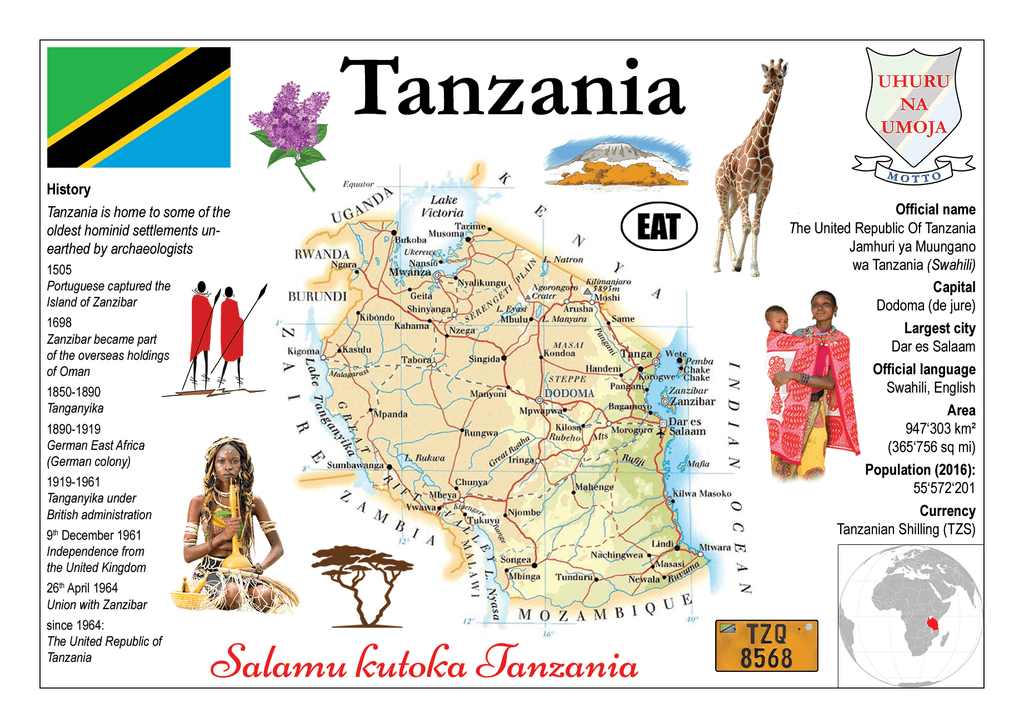 AFRICA | Tanzania MOTW - top quality approved by www.postcardsmarket.com specialists