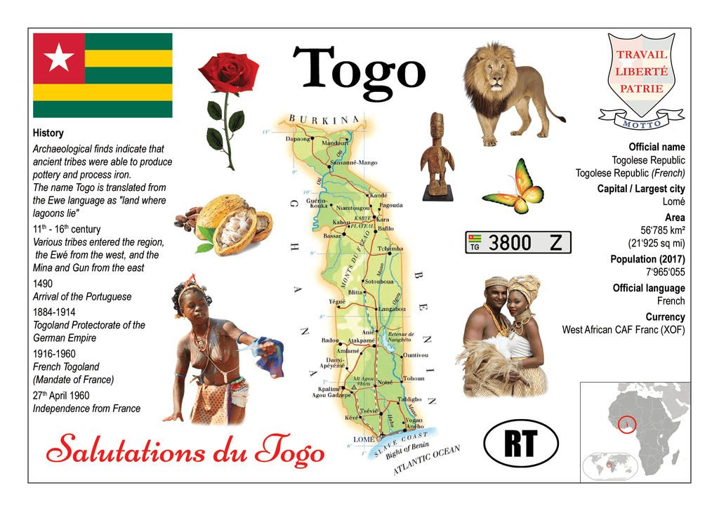 Togo - MOTW - top quality approved by www.postcardsmarket.com specialists