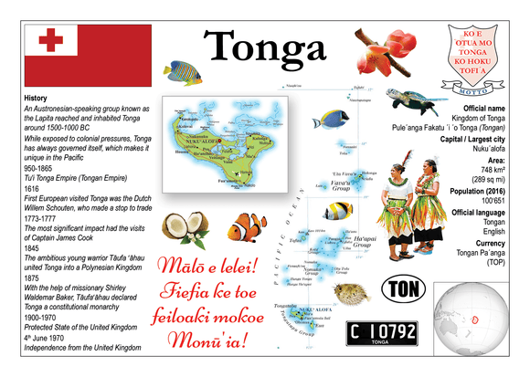 Oceania | Tonga MOTW - top quality approved by www.postcardsmarket.com specialists
