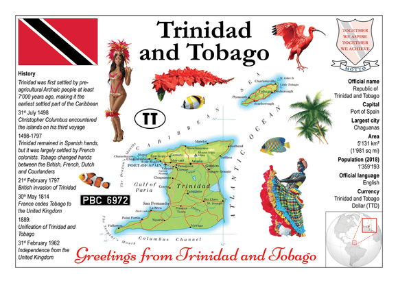 North America | Trinidad and Tobago MOTW - top quality approved by www.postcardsmarket.com specialists