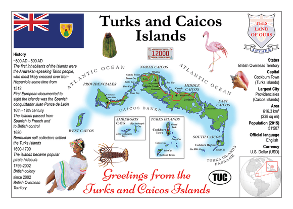 North America | Turks and Caicos Islands MOTW - top quality approved by www.postcardsmarket.com specialists
