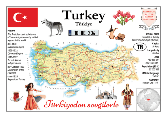 Asia | Europe | Turkey MOTW - top quality approved by www.postcardsmarket.com specialists