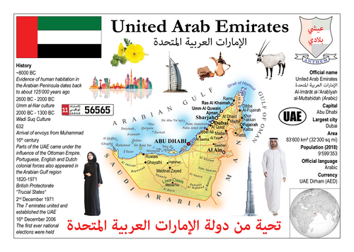 Asia | United Arab Emirates MOTW - top quality approved by www.postcardsmarket.com specialists