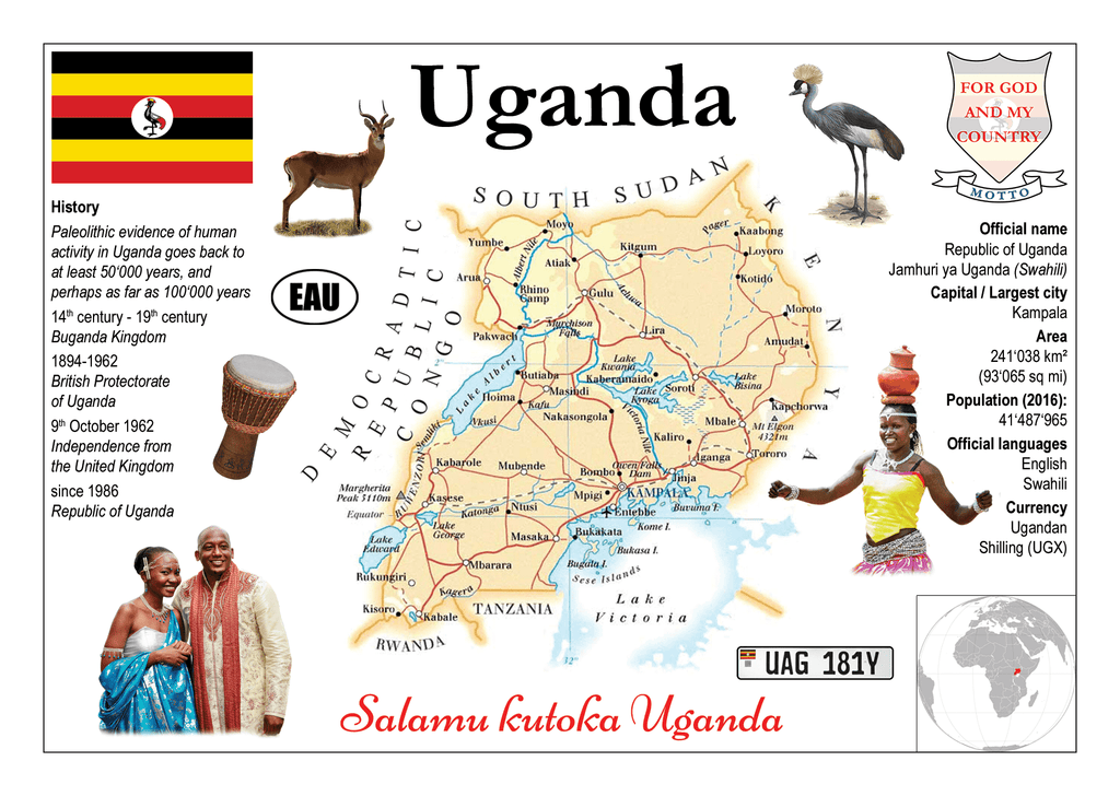 AFRICA | Uganda MOTW - top quality approved by www.postcardsmarket.com specialists