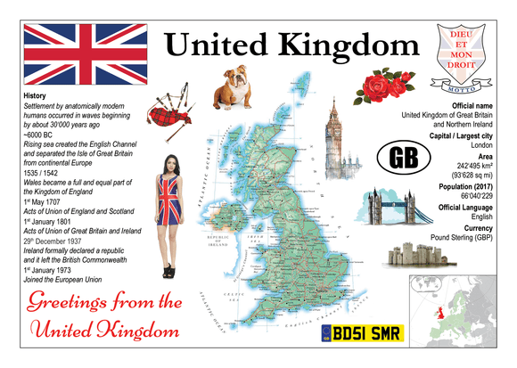 Europe | United Kingdom MOTW - top quality approved by www.postcardsmarket.com specialists