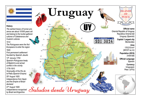 South America | Uruguay MOTW - top quality approved by www.postcardsmarket.com specialists