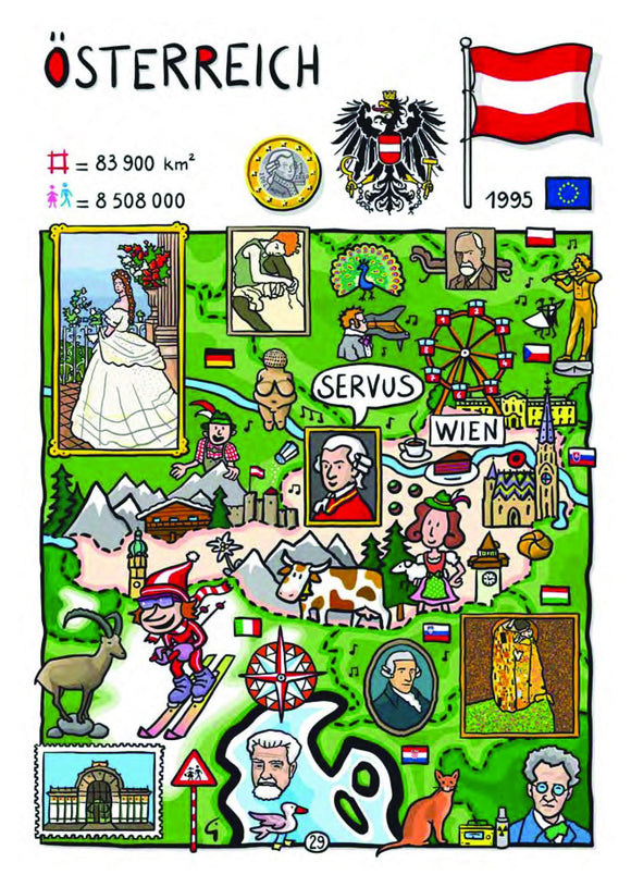 EU - United in Diversity - Osterreich_24 - Postcards Market