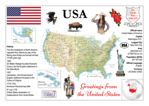 North America | United States of America MOTW - top quality approved by www.postcardsmarket.com specialists
