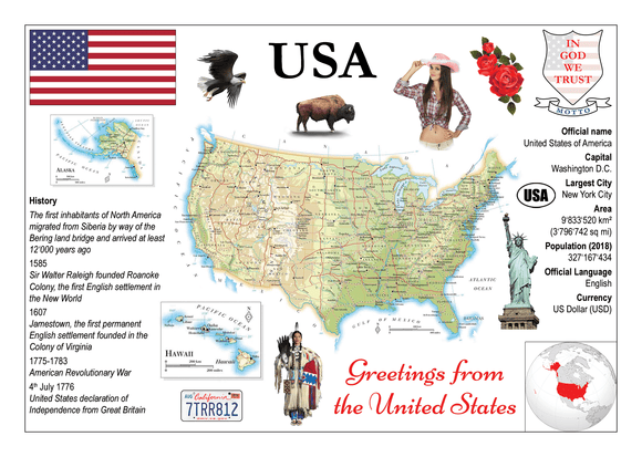 United States of America MOTW - Postcards Market