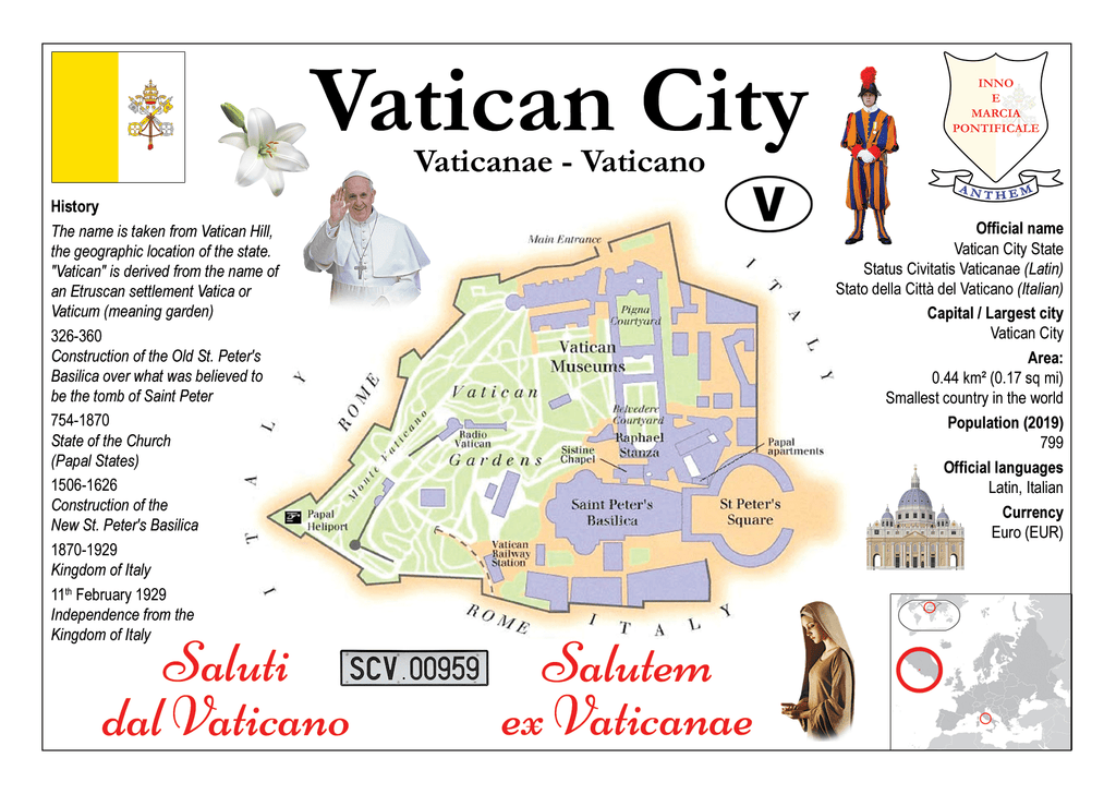 Vatican MOTW - top quality approved by www.postcardsmarket.com specialists
