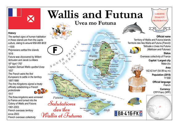 Oceania | Wallis and Futuna MOTW - top quality approved by www.postcardsmarket.com specialists