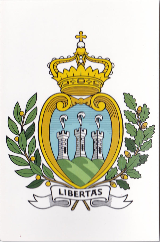 Market Corner: Coat of Arms of San Marino - bundle of 10 postcards - top quality approved by www.postcardsmarket.com specialists