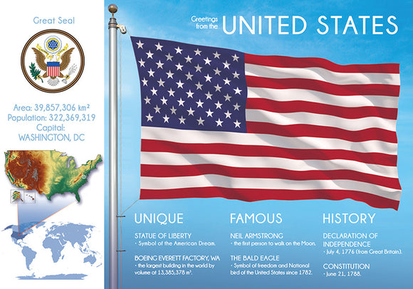 North America | UNITED STATES OF AMERICA - FW (country No. 3) - top quality approved by www.postcardsmarket.com specialists